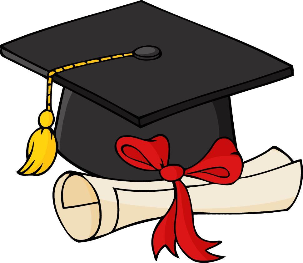 Diploma clipart. Graduation cap and