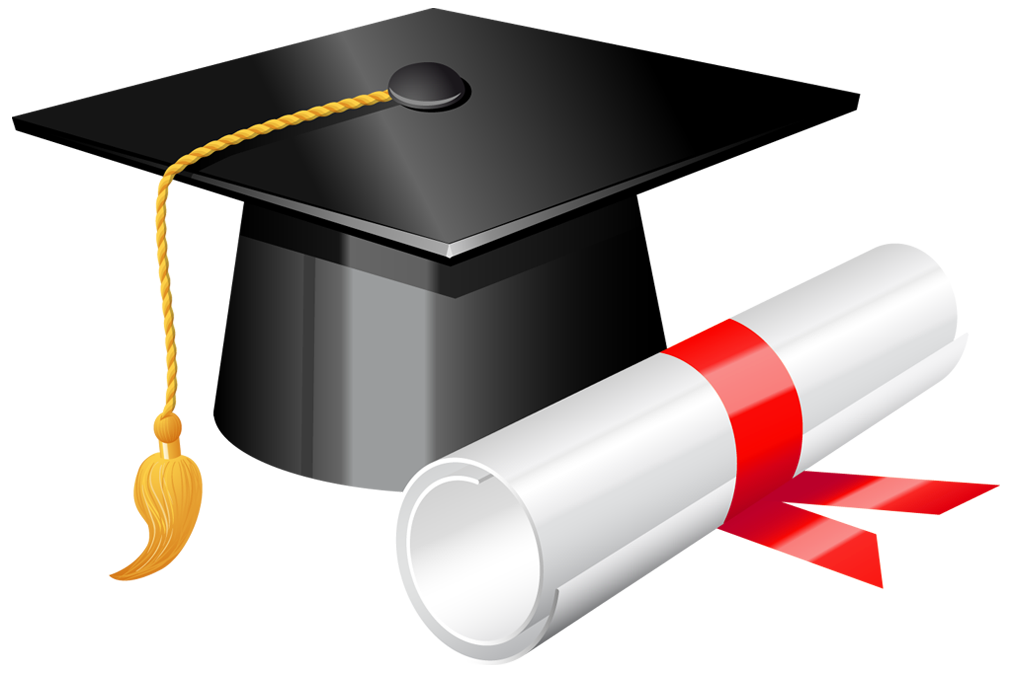 Graduation cap with diploma. Future clipart grad