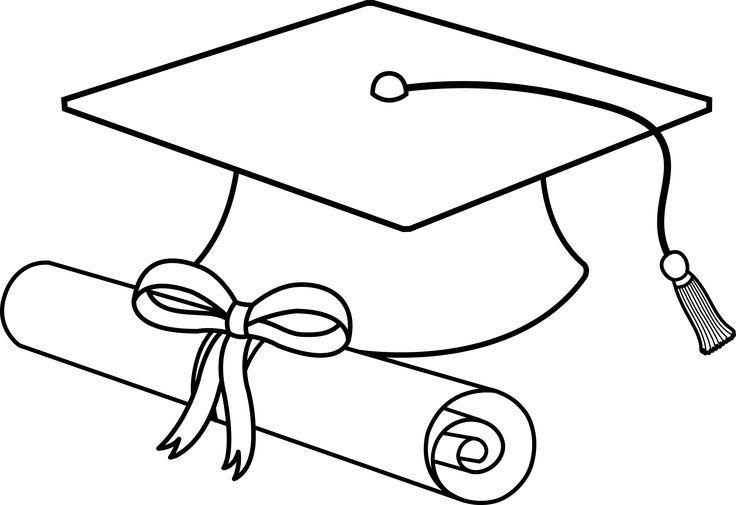Graduation clip art free. Diploma clipart black and white