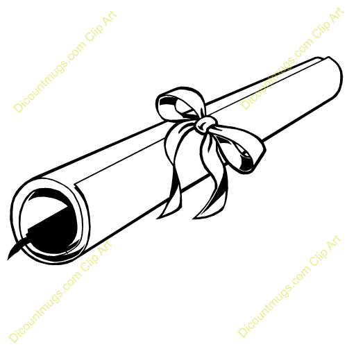 Diploma clipart black and white. Best clipartion com