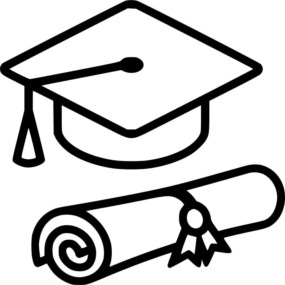 Graduation clipart symbol. Diploma and cap svg
