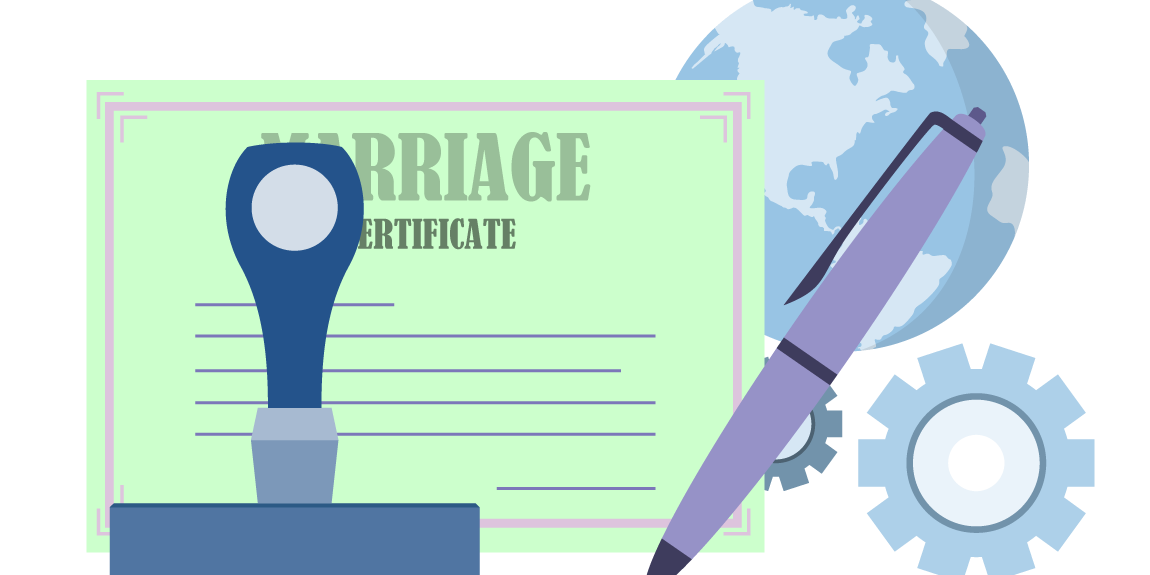 How to get marriage. Diploma clipart certification