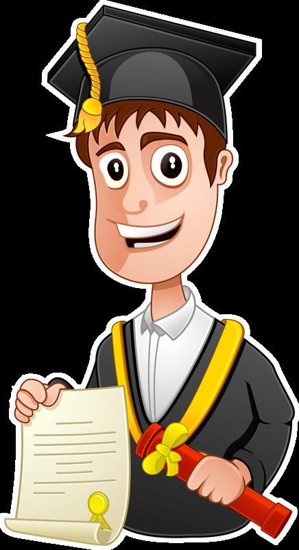 Graduate clipart scolarship. Personnages illustration individu personne