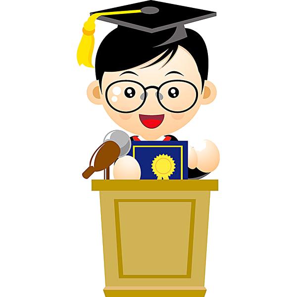 Diploma clipart doctoral degree. Graduation ceremony doctorate cartoon