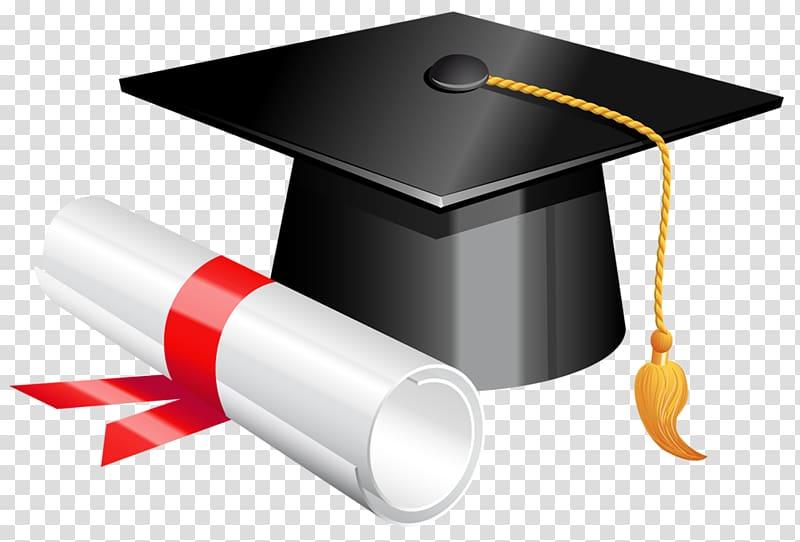 Graduation ceremony school cap. Diploma clipart doctoral degree