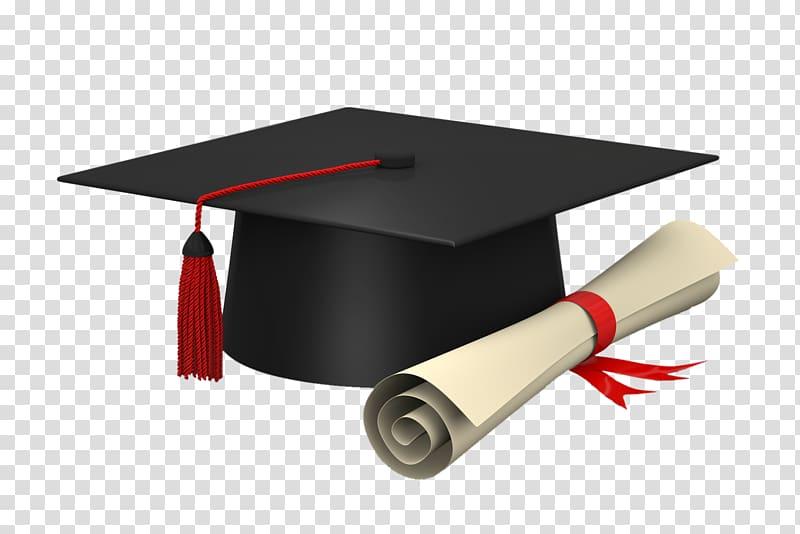 Black mortar board and. Diploma clipart doctoral degree