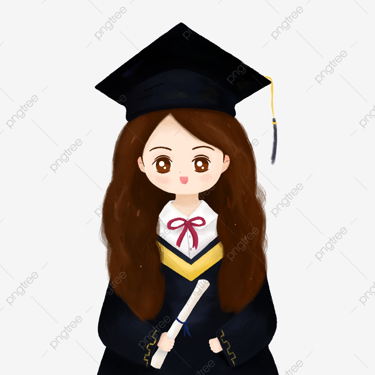 Diploma clipart doctorate degree. Cartoon graduation season doctor