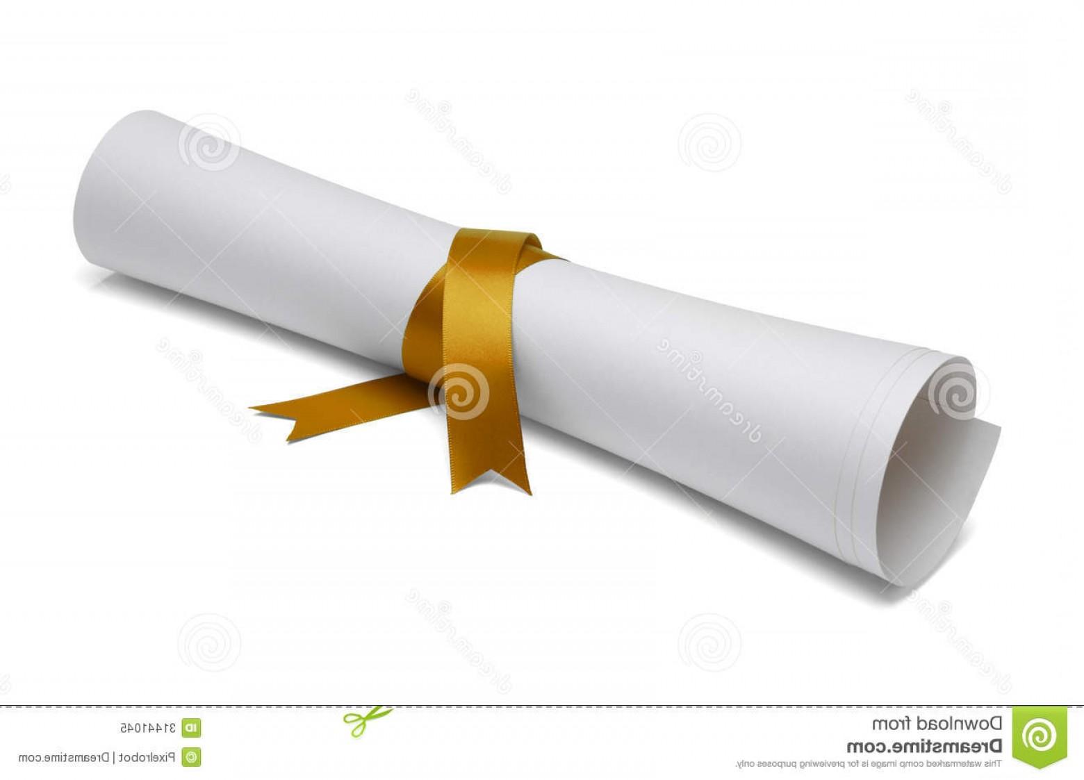 Diploma clipart gold ribbon. Royalty free stock photo