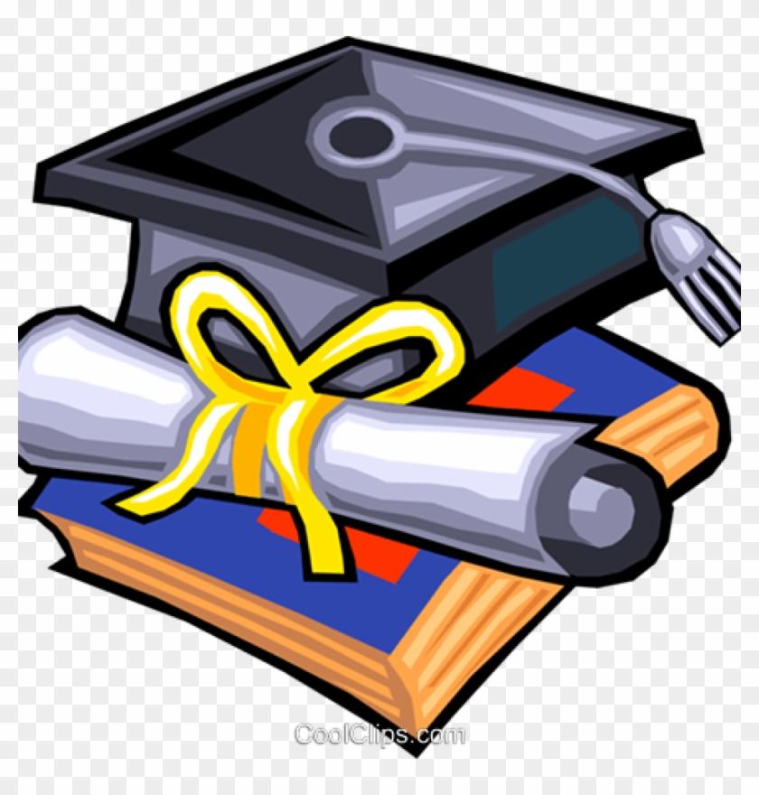 Diploma clipart grad cap. Graduation hat and royalty