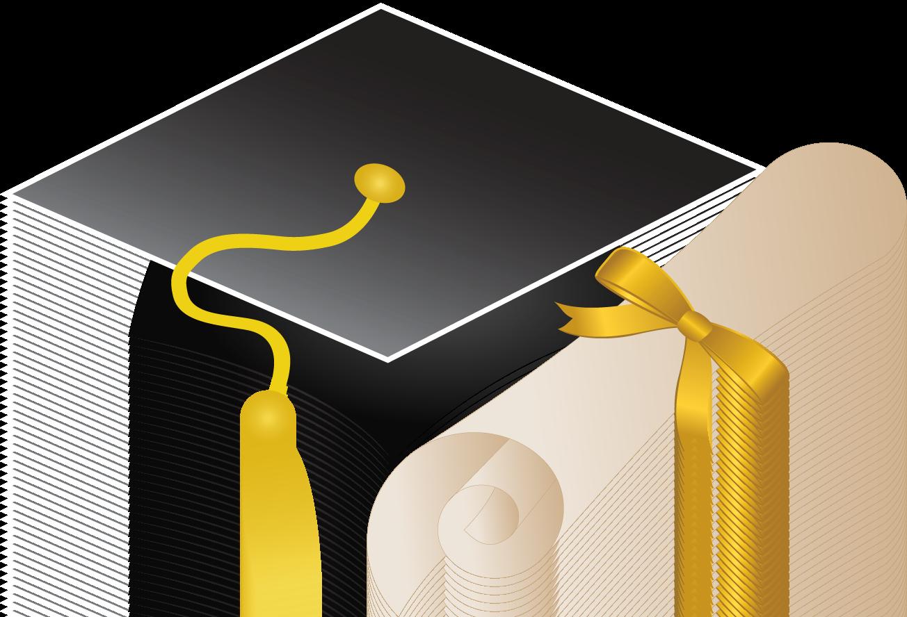 Diploma clipart grad cap. Graduation ceremony square academic