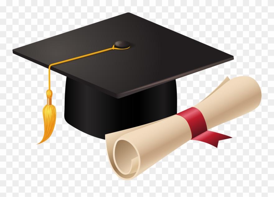 Diploma clipart grad cap. Graduation and png pinclipart
