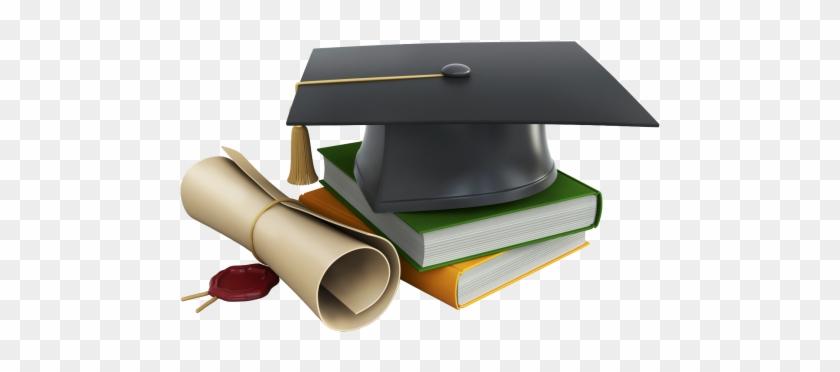 Graduation books and png. Diploma clipart grad cap