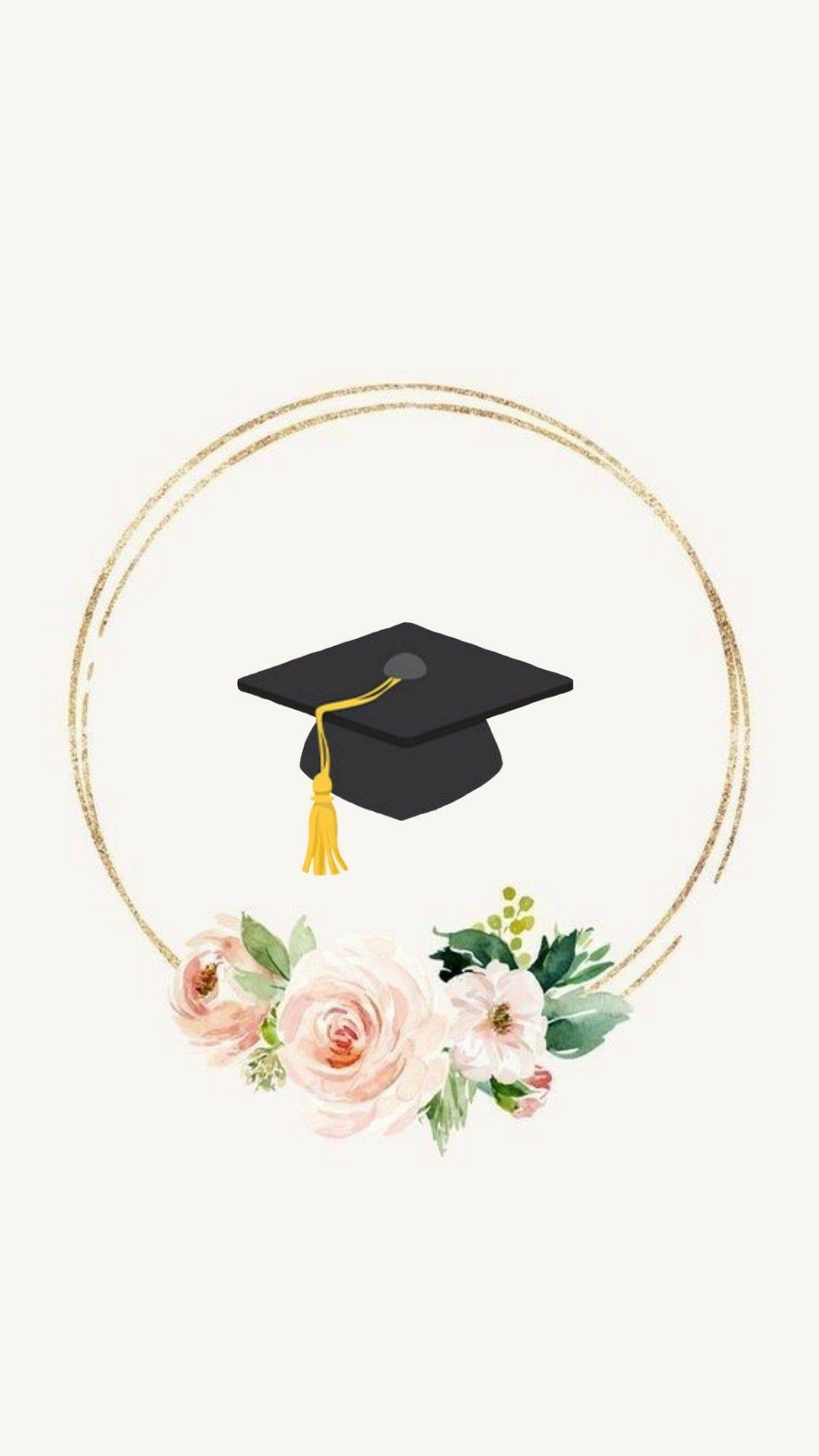 Wallpaper . Diploma clipart graduation flower
