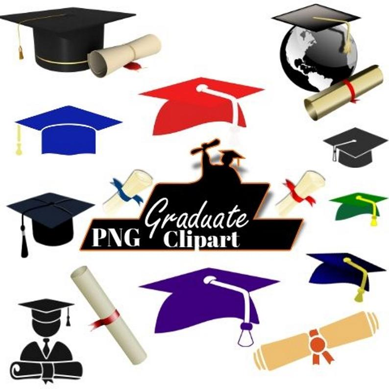 Graduation caps png image. Diploma clipart graphic