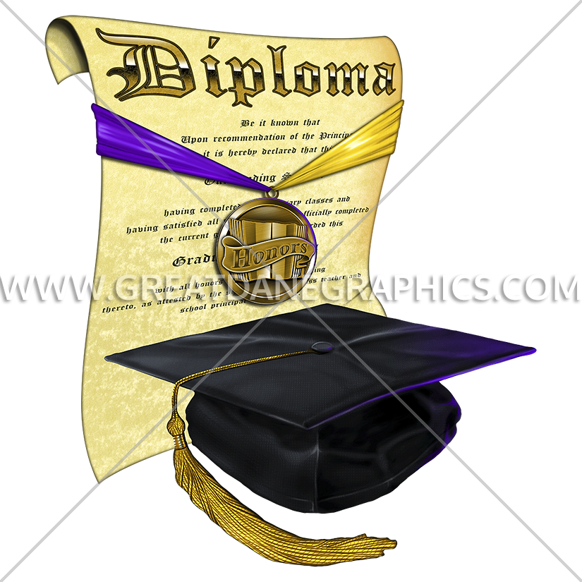 Diploma clipart graphic. Graduation cap production ready