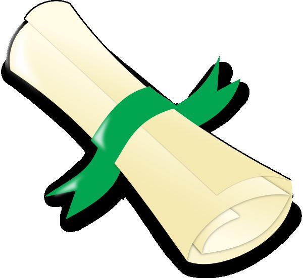 Download png image . Diploma clipart green