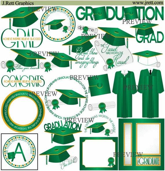 Graduation clip art more. Diploma clipart green