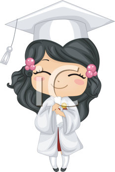 Iclipart of a kid. Diploma clipart illustration