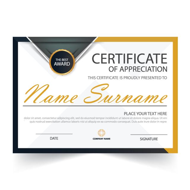 Diploma clipart logo design. Elegance horizontal certificate with