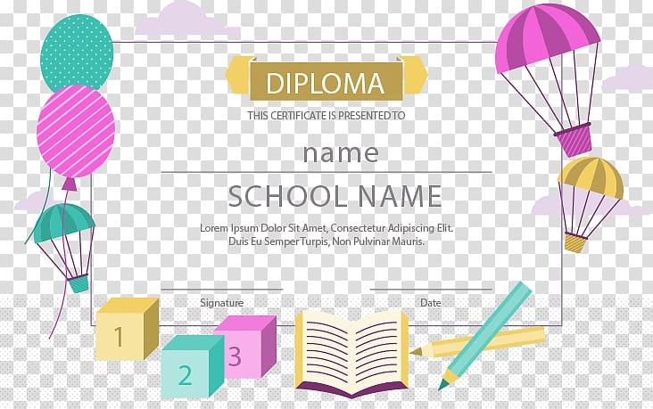 Diploma clipart logo design. Hot air balloons school