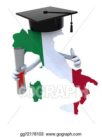 Diploma clipart map. Stock illustration italy maps