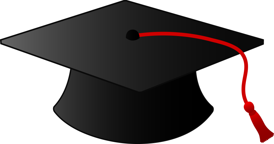 Writeathome graduation cap. Graduate clipart university student