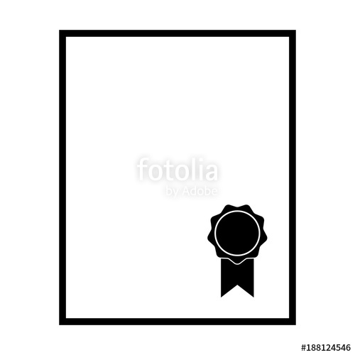 Diploma clipart official document. Sealed icon blank such