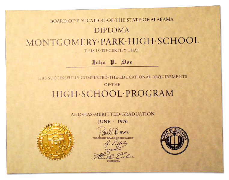 Diploma clipart official document. Name for high school