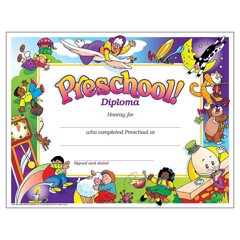 Diploma clipart preschool. Trend enterprises inc ct