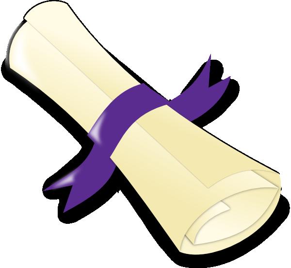 Clip art at clker. Diploma clipart purple