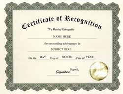 Award certificates word templates. Diploma clipart recognition