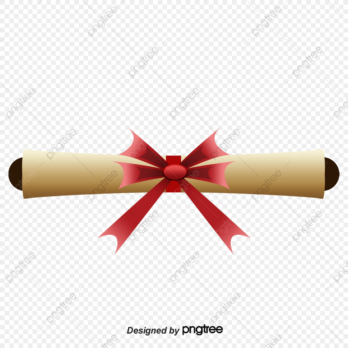 Rolled certificate rolls . Diploma clipart ribbon