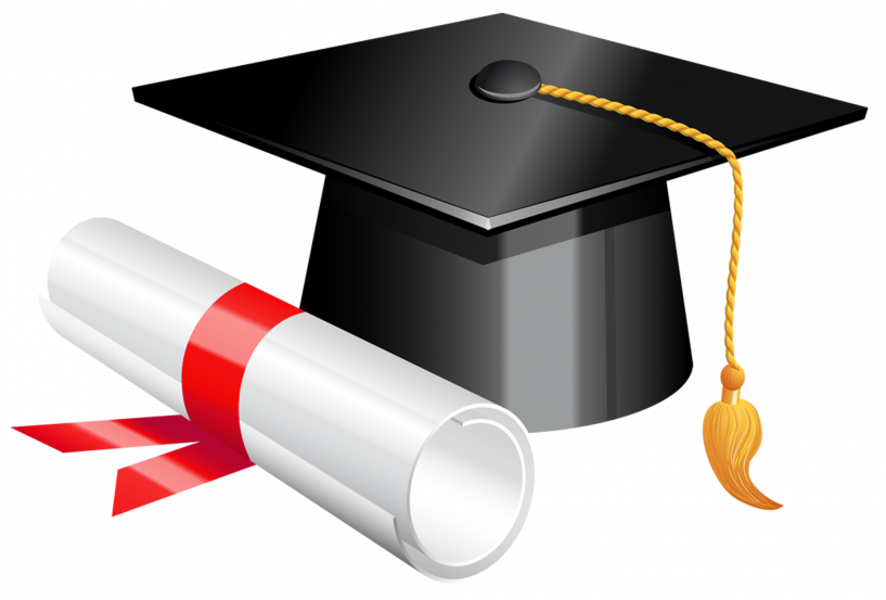 Diploma clipart rolled. Graduation cap and png