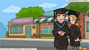 Diploma clipart small. A woman shows her