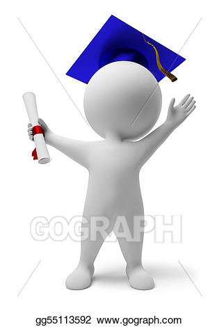 D people stock illustration. Diploma clipart small