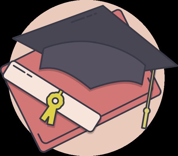 Kdg technology for education. Student clipart cap