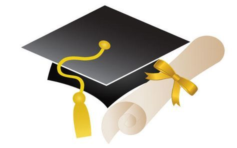 Free graduation cap and. Diploma clipart vector