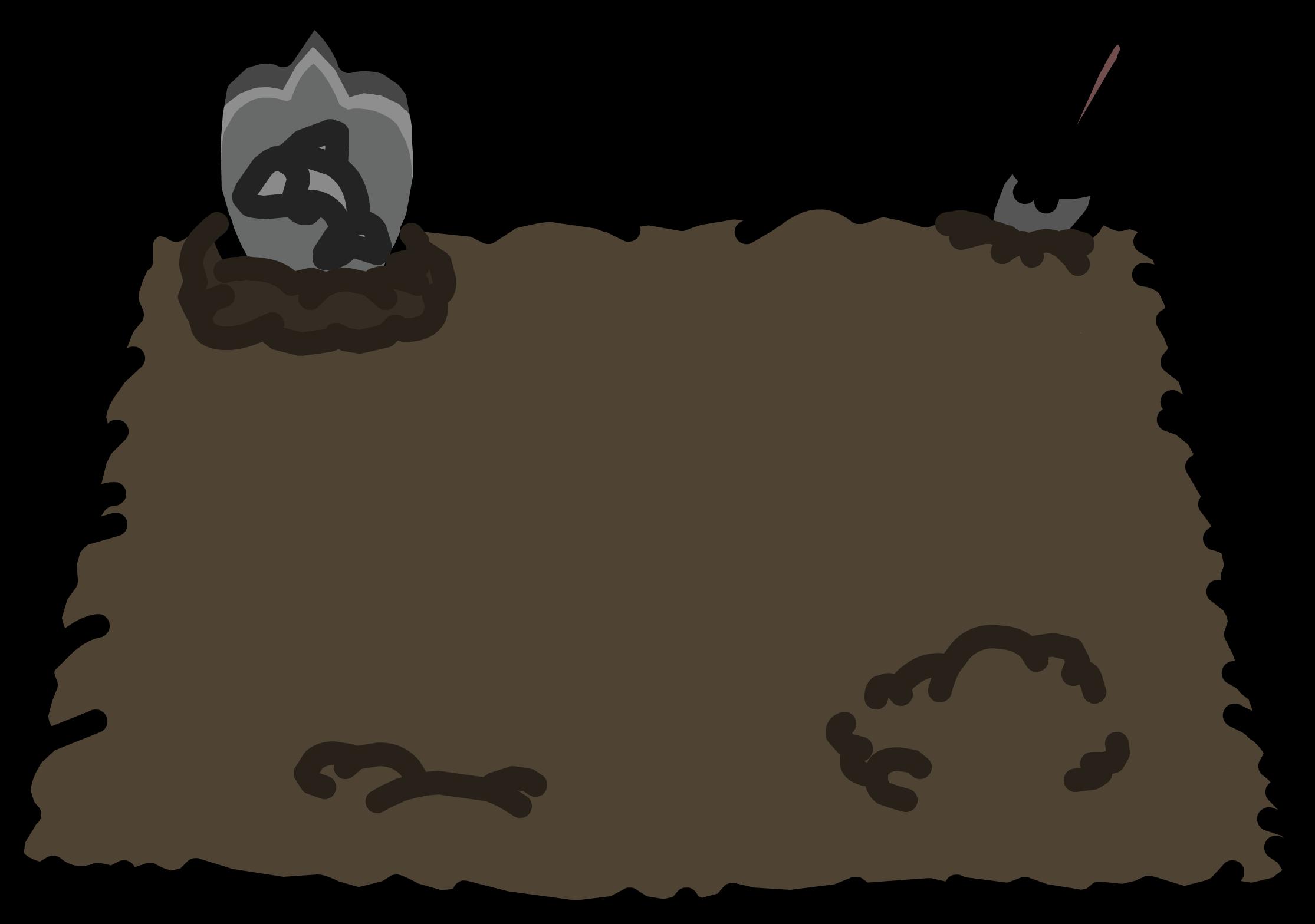 Graveyard plot club penguin. Dirt clipart brown rock