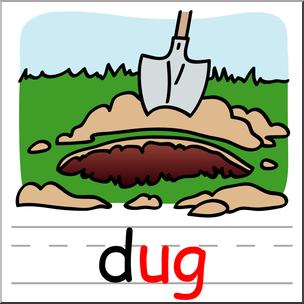 Clip art basic words. Dirt clipart dug