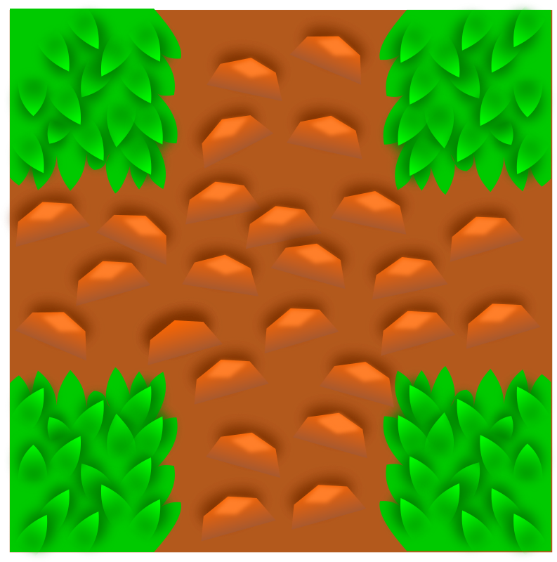Tile pattern game component. Dirt clipart grass