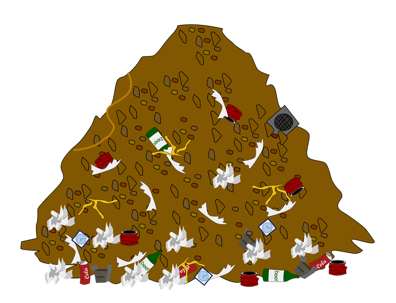 collection of pile. Mud clipart heap