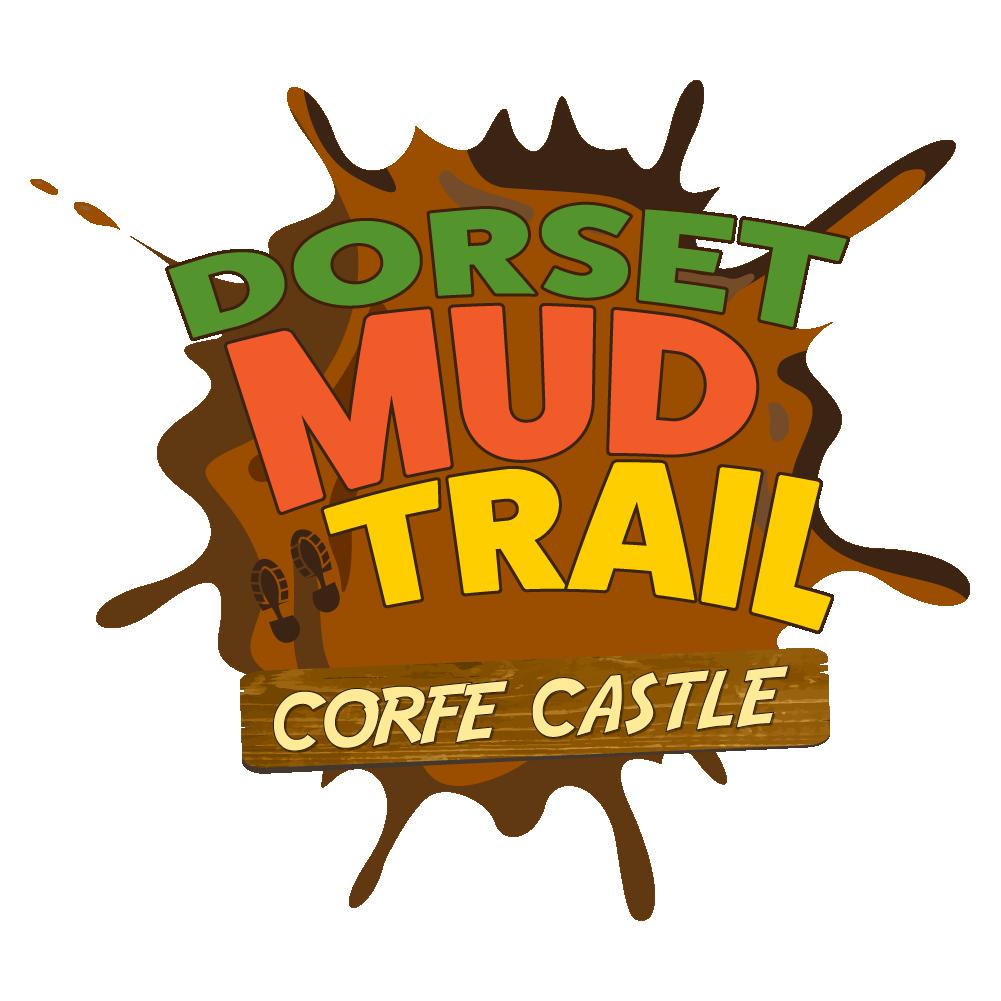 Dorset mud trail logo. Dirt clipart muddy puddle