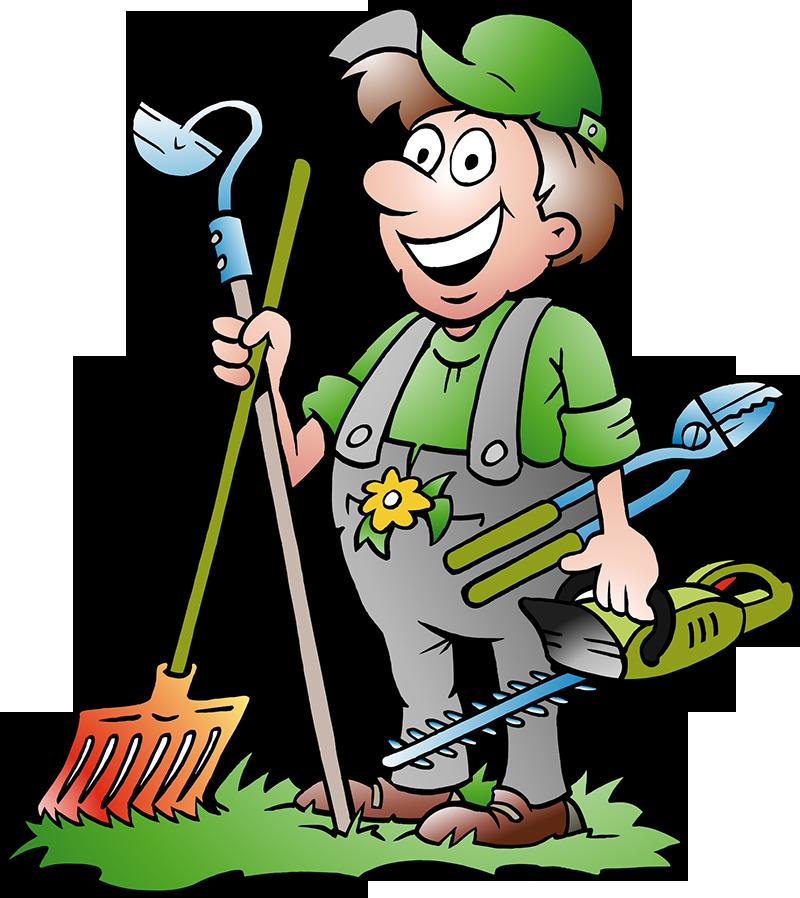 Ready to garden at. Gardener clipart organic farming