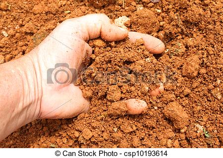 Cliparts making the web. Dirt clipart red soil