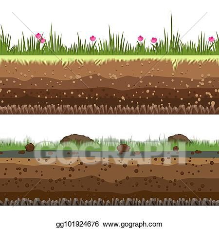 Dirt clipart seamless. Vector underground layers background