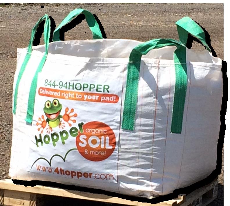 Hopper delivered right to. Dirt clipart soil bag