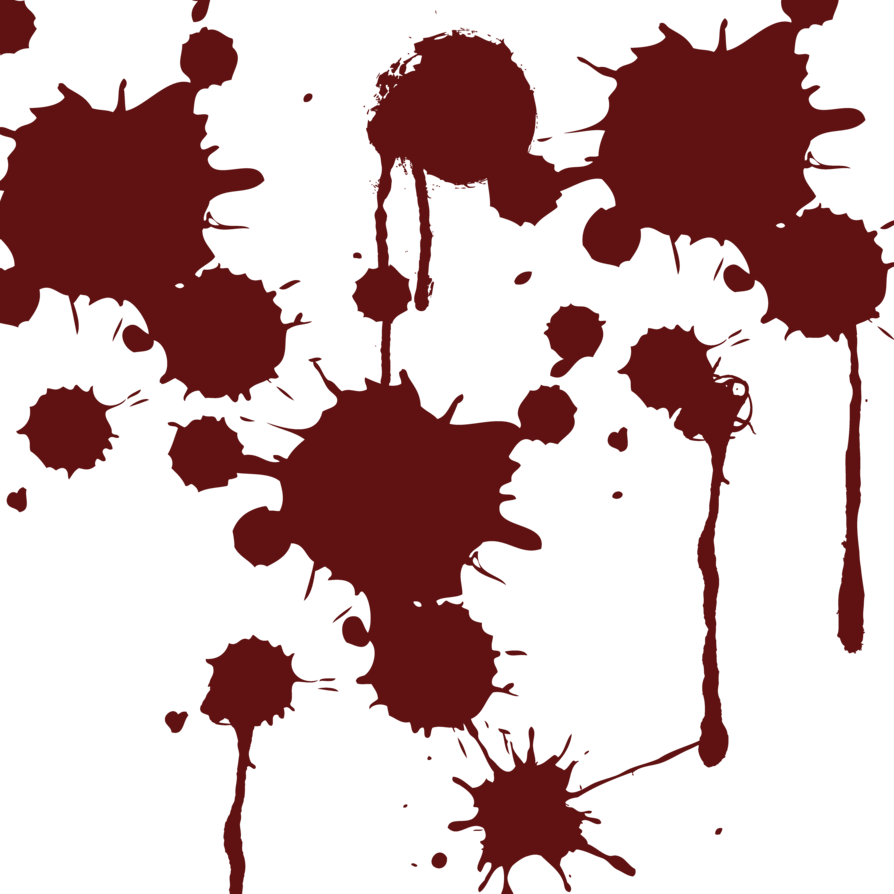 Splatter six isolated stock. Anime blood png