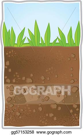 Dirt clipart underground. Vector art illustration eps
