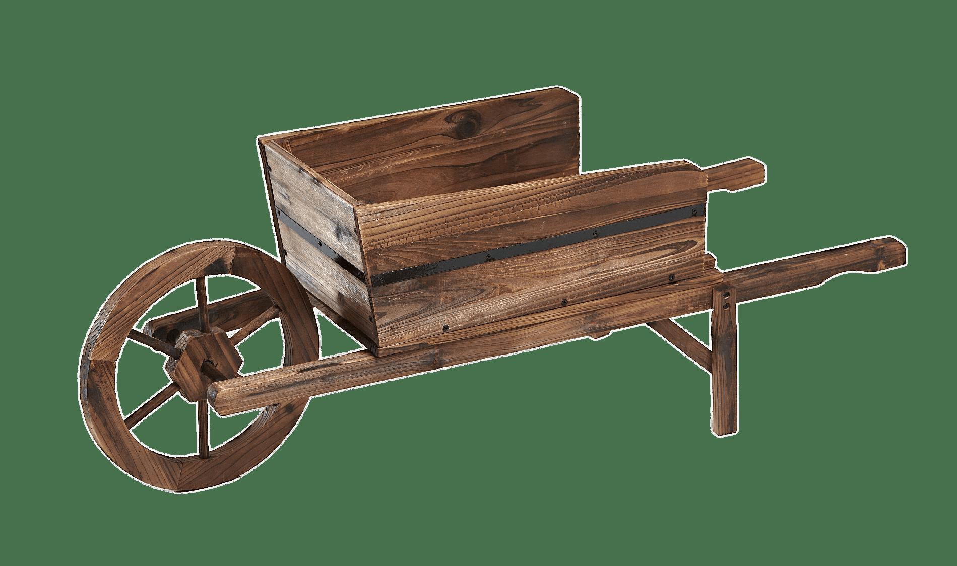 Wooden wheelbarrow transparent png. Wagon clipart wood cart