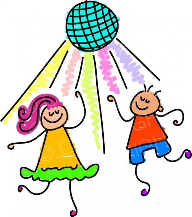 Disco clipart. Toddler art dancing party